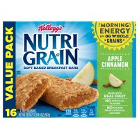 Kellogg's Nutri-Grain Soft Baked Breakfast Bars Apple Cinnamon - 16 ct