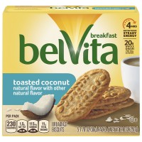 Nabisco belVita Breakfast Biscuits Toasted Coconut - 5 ct