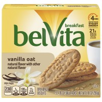 Nabisco belVita Breakfast Biscuits Vanilla Oat - 5 ct