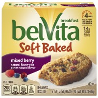 Nabisco belVita Soft Baked Breakfast Biscuits Mixed Berry - 5 ct