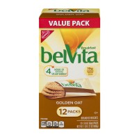 Nabisco belVita Breakfast Biscuits Golden Oat - 12 ct