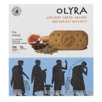 Olyra Anciet Greek Grains Breakfast Biscuits Fig Anise - 4 ct