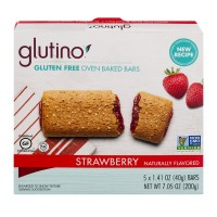 Glutino Breakfast Bars Strawberry Gluten Free - 5 ct