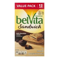 Nabisco belVita Breakfast Sandwich Dark Chocolate Creme - 12 ct