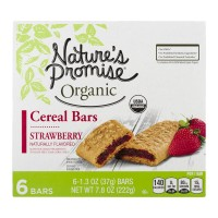 Nature's Promise Cereal Bars Strawberry Organic - 6 ct