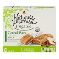 Nature's Promise Organic Cereal Bars Apple - 6 ct