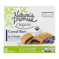 Nature's Promise Organic Cereal Bars Blueberry - 6 ct