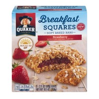 Quaker Breakfast Squares Soft Baked Bars Strawberry - 5 ct