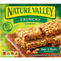 Nature Valley Crunchy Granola Bars Oats 'n Honey 100% Natural - 6 ct