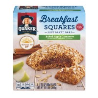 Quaker Breakfast Squares Soft Baked Bars Baked Apple Cinnamon - 5 ct