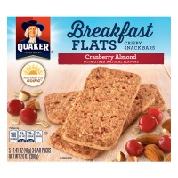Quaker Breakfast Flats Crispy Snack Bars Cranberry Almond - 5 ct
