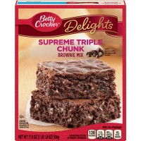 Betty Crocker Delights Brownie Mix Supreme Triple Chunk