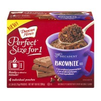 Duncan Hines Perfect Size for 1 Decadent Brownie Mix - 4 ct