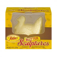 Keller's Butter Sculptures Thanksgiving Turkey Shaped Salted