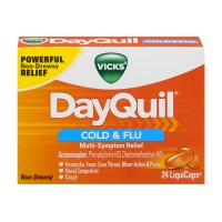 Vicks DayQuil Cold & Flu Multi-Symptom Relief Non Drowsy LiquiCaps