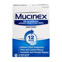 Mucinex Expectorant Chest Congestion 12 Hour Extended Release Tablets
