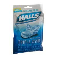 Halls Cough Drops Mentholyptus Mountain Menthol Sugar Free