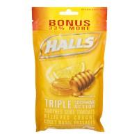Halls Cough Drops Menthol Honey Lemon