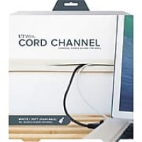 UT Wire 10 Feet Cord Channel, White