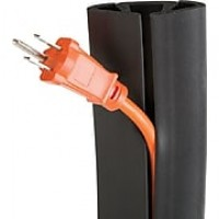 UT Wire 5 ft. Cord Protector, Black