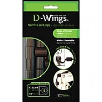 D-WINGS CORD CONTROL, SMALL, BLACK, SET OF 12