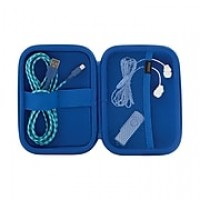 Staples Mini Accessory Organizer with Carabiner, Blue