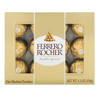 Ferrero Rocher Fine Hazelnut Chocolates - 12 ct