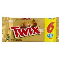 Twix Cookie Bars Caramel & Milk Chocolate Fun Size - 6 ct