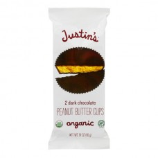 Justin's Peanut Butter Cups Dark Chocolate - 2 ct Organic