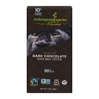Endangered Species Dark Chocolate 88% Cocoa Natural