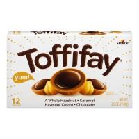 Toffifay Whole Hazelnut Caramel Hazelnut Cream Chocolate - 12 ct