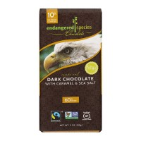 Endangered Species Dark Chocolate Bar with Caramel & Sea Salt 60% Cocoa