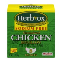 Herb-Ox Granulated Bouillon Chicken Sodium Free Packets - 8 ct