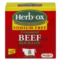 Herb-Ox Instant Bouillon Beef Sodium Free Packets - 8 ct