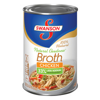 Swanson Natural Goodness Chicken Broth 33% Less Sodium 100% Natural