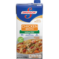 Swanson Chicken Broth Unsalted Non-GMO No MSG Added
