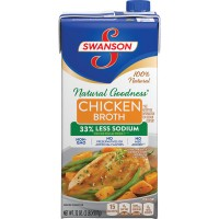 Swanson Natural Goodness Chicken Broth 33% Less Sodium Non-GMO