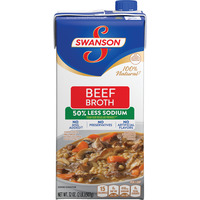 Swanson Beef Broth 100% Natural 50% Less Sodium