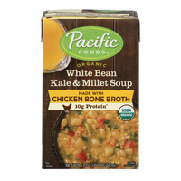 Pacific Foods White Bean Kale & Millet with Chicken Broth Soup Organic