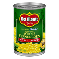 Del Monte Fresh Cut Corn Whole Kernel Golden Sweet No Salt Added Non-GMO