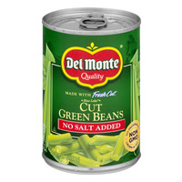 Del Monte Fresh Cut Green Beans No Salt Added Non-GMO