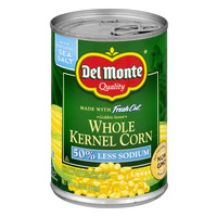 Del Monte Fresh Cut Whole Kernel Corn 50% Less Sodium Sea Salt Non-GMO