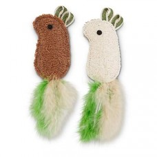 Leaps & Bounds Playful by Nature Luffa Mice Cat Toys, Pack of 2