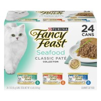 Fancy Feast Gourmet Classic Pate Seafood Feast Variety - 24 pk