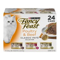 Fancy Feast Wet Cat Food Classic Poultry & Beef Feast Variety Pack - 24 pk