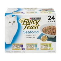 Fancy Feast Wet Cat Food Grilled Seafood Feast Variety Pack - 24 pk