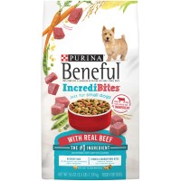 Purina Beneful IncrediBites Adult Dog Food for Small Dogs with Real Beef