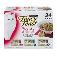 Fancy Feast Wet Cat Food Grilled Poultry & Beef Feast Variety Pack - 24 pk