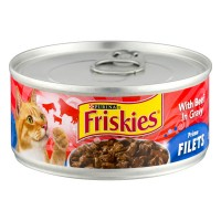 Friskies Wet Cat Food Prime Filets with Beef in Gravy