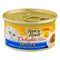 Fancy Feast Delights Wet Cat Food Grilled Whitefish & Cheddar in Gravy